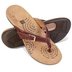 The Lady's Overpronation Correcting Sandals - Hammacher Schlemmer