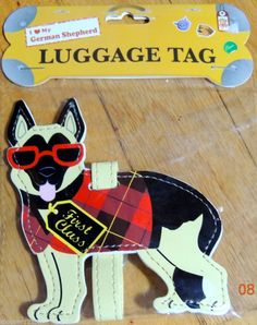 German Shepard Dog Luggage Briefcase Gym Backpack Travel ID Tag