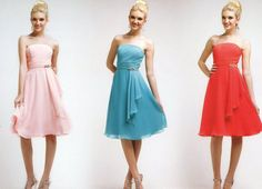 Colors Cocktail Bridesmaids Homecoming Short Formal Dress Ball Gown +Plus