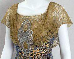 Belle époque - Détail de Robe du Soir - Paris - 1906-08
