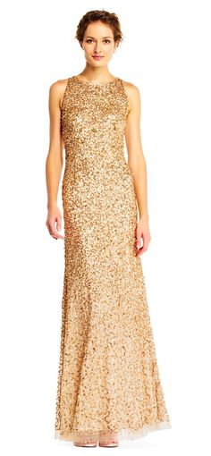 One Shoulder Beaded Blouson Gown with Godet Skirt   Blush & Pink ...