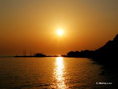 Plomari, Lesvos island, Greece by Stratis Axiotis on Olympus Digital Camera, Photographs, Photos, Sunsets, Greece, Spaces, Island, Celestial, Outdoor
