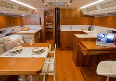 Grand Soleil 50 saloon #theyachtowner #sailing
