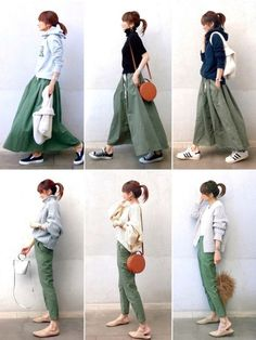 If you need casual, attempt tucking mini skirt within the One. Fashion Mode, Fall Fashion Outfits, Japan Fashion, Mode Outfits, Fashion Pants, Hijab Fashion, Skirt Outfits Modest, Denim Skirt Outfits, Denim Skirts