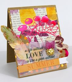Card from Inspiration Challenge by Tyra Babington for SEI -- Tons of layers and elements used