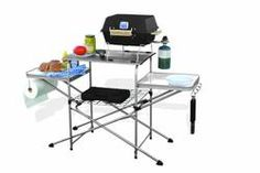 Buy BBQ Grill Table RV Outdoor Cooking Prep Folding for Camp Kitchen Camping Portabl at online store Table Camping, Camping Bbq, Camping Gear, Camping Hacks, Camping Cooking, Camping Stuff, Camping Kitchen, Camping Guide, Camping Supplies