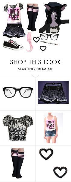 """""""Shenzi Rachel, Rachel Library"""" by brainyxbat ❤ liked on Polyvore featuring Disney, INDIE HAIR, Tripp, Forever 21, Converse and Marc by Marc Jacobs"""