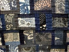 and other silly things: quilts- Japanese Quilt Patterns, Japanese Quilts, Japanese Textiles, Japanese Fabric, Japanese Embroidery, Asian Quilts, Quilt Festival, Quilt Stitching, Blue Quilts