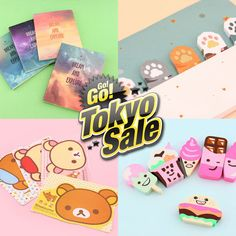 ✨ Hurry Up! ✨Blippo Kawaii Shop's Tokyo Sale ends in just 4 days! Get these stationery items & 700 other kawaii products up to 50% OFF!  www.blippo.com/sale
