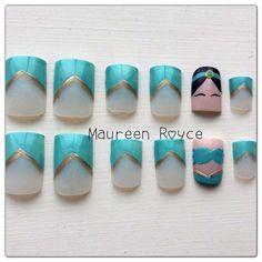 Princess Jasmine Fake Nails by NailsByReen on Etsy