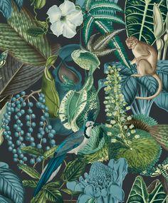 Blue Dreamy Jungle Wallpaper R7110