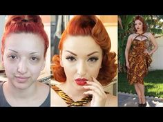 My Go To Quick Pinup Hair Style - Nasty to Classy - YouTube