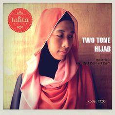 Two Tone : Orange & Salmon - square #hijab