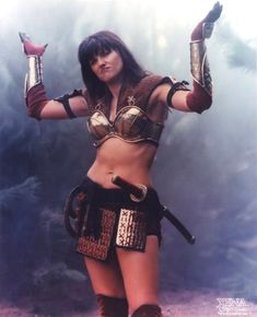 Xena.... Xena doesn't give a shit... If you suck, she will kick your ass until you shape up! She is what we call... a badass.