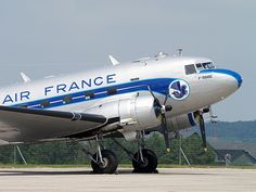 Air France DC3. The beauty of the old aircraft in their livery designs.