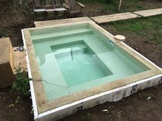 Exceptional DIY Concrete Block Soaking Pool   In Progress, Advice Welcome!