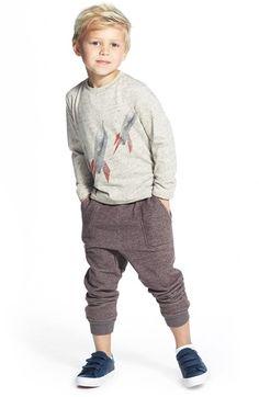 Tucker + Tate Long Sleeve Flecked Graphic T-Shirt (Toddler Boys & Little Boys)