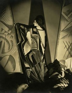 Edward Steichen American 1879-1973, emigrated to United States 1881, worked in France 1906-23 'Tamaris with a large Art Deco scarf' 1925
