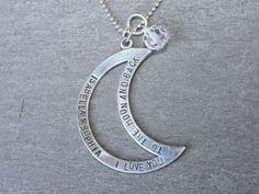 I Love You To The Moon And Back by sosobellatoo on Etsy, $46.00