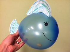 """Jonah """"In a Fish"""" Craft. Nice way to add a Bible story to Apologia Swimming Creatures. #homeschool science"""