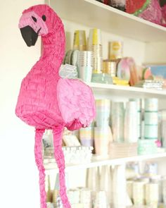 """24 Likes, 1 Comments - Julie (@poprocparties) on Instagram: """"This flamingo piñata is so so cool! Not only is it a fun activity for the kids filled with…"""""""