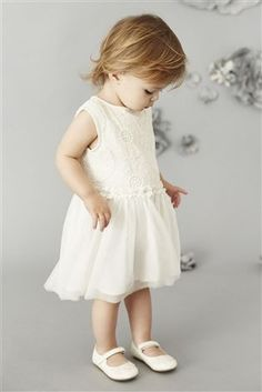Buy Ecru Floral Lace Party Dress (3mths-6yrs) from the Next UK online shop