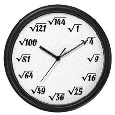 My math nerd friends would love this clock .my best Friend Frank, especially! Math Jokes, Math Humor, Math Clock, Math Magic, Physics And Mathematics, Writing Fantasy, Math Poster, Math Formulas, Math Projects