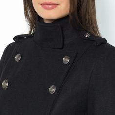 Cappotto stile militare 45% lana