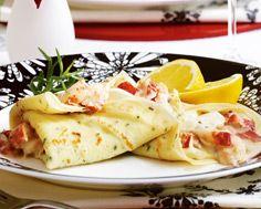 Lobster Tarragon Crepes