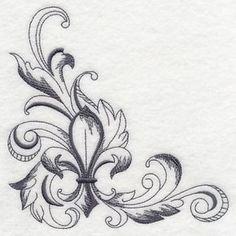 Baroque Fleur de Lis Corner