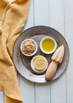 3 End-of-Summer Treatments for Flip Flop Feet (Soak, Scrub   Salve) - lemon and honey sugar foot scrub