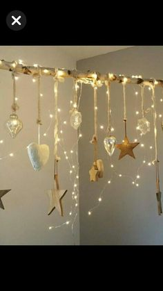 Starry Lights, 242, Creation Deco, Bedroom Themes, Bedroom Ideas, Xmas Crafts, Tree Crafts, Tree Branch Crafts, Xmas Decorations