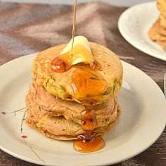 Whole wheat zucchin bread pancakes #HealthyAperture