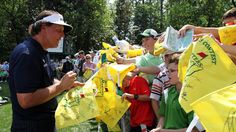 Phil signing autographs during the Masters Par 3 contest Augusta National Golf Club, Good Times, Masters, Wednesday, Master's Degree