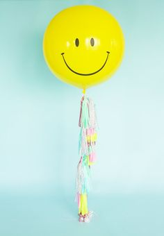 Don't Worry Be Happy Tassel Garland, OR Balloon garland (Free Shipping)