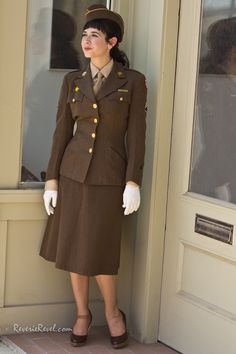 fashion photographer st louis; Women's Army Auxiliary Corps (WAAC) uniform