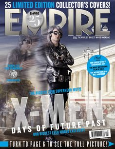 """Evan Peters as Quicksliver:   All 25 """"X-Men: Days Of Future Past"""" Covers From Empire Magazine"""