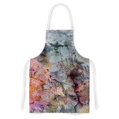 Kess InHouse Iris Lehnhardt 'Floating Colors' Teal Brown Artistic Apron