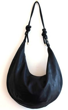 Black Leather Hobo Handbag Purse Ready To Ship By Lalolondon 155 00