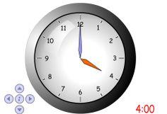 zegar - przesuwanie wskazówek po 1 minucie