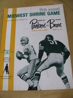 Green Bay Packers Chicago Bears Program by victoriansentiments, $25.00