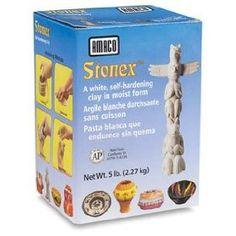 Amaco Self Hardening Clays - 5 lb, Stonex White Clay