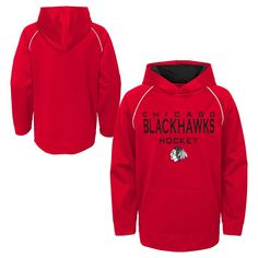 Chicago Blackhawks Boys  Shorthand Poly Embossed Hoodie L f16ca8e5a
