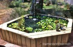 Butterfly Garden Turn that old hot tub into a garden pond and discover lots more backyard pond ideas at Empress of Dirt. Garden Turn that old hot tub into a garden pond and discover lots more backyard pond ideas at Empress of Dirt. Hot Tub Backyard, Ponds Backyard, Backyard Landscaping, Garden Ponds, Garden Fountains, Desert Backyard, Outdoor Ponds, Stone Fountains, Diy Fountain