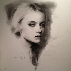 Charcoal sketch by Casey Baugh