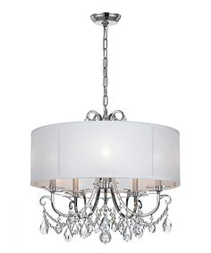 Look at this Polished Chrome Five-Light Chandelier on #zulily today!