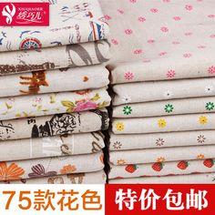 Цветочные хлопок белье ткань диван сельская местность цветочные ткани DIY ручной…