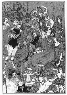 The Cave of Spleen, Illustration by Aubrey Beardsley for The Rape of the Lock (1896) by Alexander Pope
