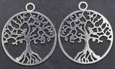 6 TREE Of LIFE Pendants Charms 25 x 29 MM One by ChezChaniSupply