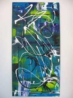 Abstract Art Acrylic Painting Original by Artworkbynatalieb